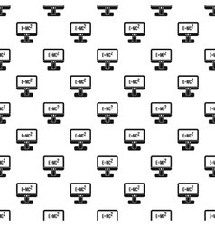 Computer monitor pattern simple style vector image