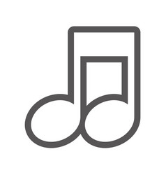 grayscale contour with musical note close up vector image vector image