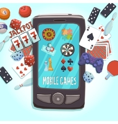 Mobile phone games concept vector image vector image