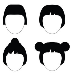 woman hair hairstyle silhouette vector image