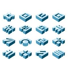 3d design elements vector image