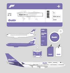 Airline brand and plane tickets vector image vector image