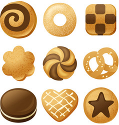 cookie icons vector image