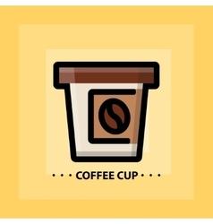 flat coffee icon vector image