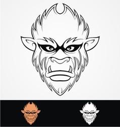 Monkey head tribal vector