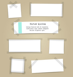 paper sheets with scotch tape pieces vector image