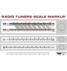 Radio tuner scale dashboard markup vector image vector image
