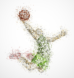 Abstract basketball player2 vector image