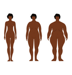 fat african women cartoon outline style human vector image