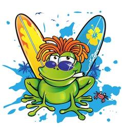 jamanican frog vector image vector image