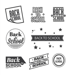 Set of Back to School lettering vector image