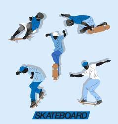 skate up vector image vector image