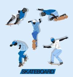 skate up vector image