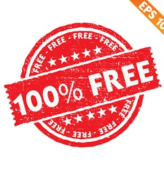 Stamp sticker Free collection - - EPS10 vector image vector image