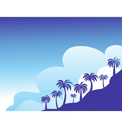 Summer color background with palm trees vector image