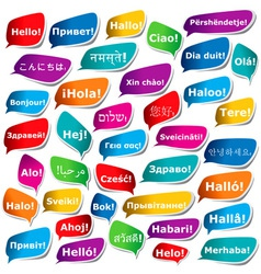 38 ways to say hello vector image