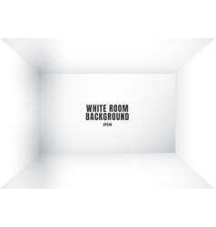 3d empty white room modern blank interior vector image