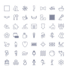 49 pattern icons vector