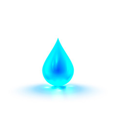 a drop water in white background vector image