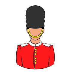 a royal guard icon cartoon vector image