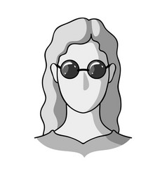 a woman with blond hair with glassesa blind woman vector image