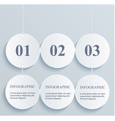 abstract numeric circles infographic hanging vector image