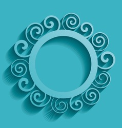 Abstract round ornament vector image