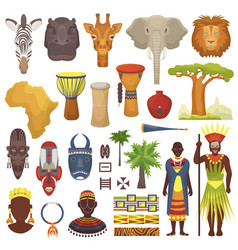 african culture characters in traditional vector image