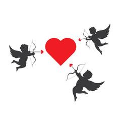 angel love icon vector image