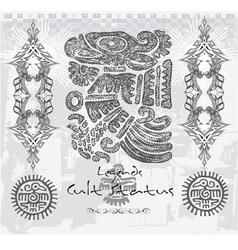 astec indian bird vector image