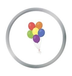 Balloon icon cartoon Single gay icon from the big vector