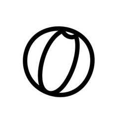 beach ball rubber toy icon vector image