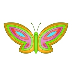 Beautiful butterfly icon cartoon style vector