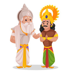 Bhishma pitamaha cartoon character vector