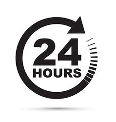 Black 24 hours vector