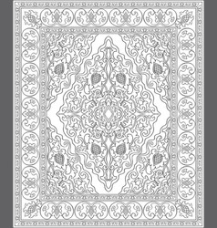 black and white template for carpet vector image