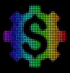 Bright dot development cost icon vector