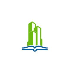 building book logo icon design vector image