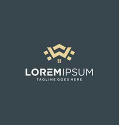 building letter w logo design inspiration vector image