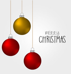 christmas balls decoration ornament color vector image