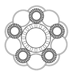Decorative colorless mandala vector