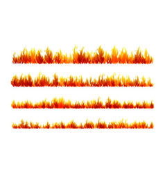 Fire design collection horizontal dividers set vector