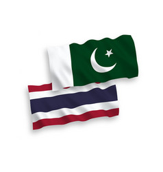 Flags pakistan and thailand on a white vector