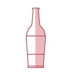 Flat line bottle design vector
