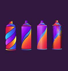 Graffiti spraycans vector