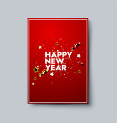 happy new year poster template vector image
