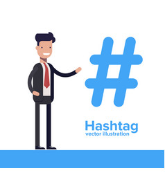 Hashtag concept promotion of social networks vector