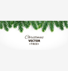 Horizontal banner with christmas tree vector