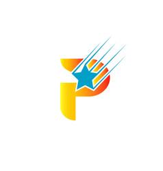 letter p logo iconprint vector image