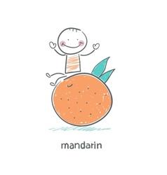 Man and Mandarin vector image vector image